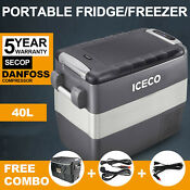 42qt 12v Portable Fridge Freezer Car Refrigerator Cooler With Secop Compressor