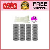 40 Pieces Lint Traps Stainless Steel Washing Machine Lint Snare Trap Freeship