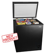 5 Cu Ft Compact Chest Freezer Storage Upright Deep Home Quick Defrost Black New