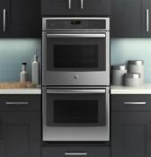 Nib Ge Pk7500sfss 27 Stainless Profile Self Cleaning Electric Double Wall Oven