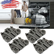 4x Dishwasher Dishrack Wheels Lower Rack For Kenmore Kitchenaid Maytag W10195417