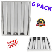 6 Pack 20 X 16 Commercial Kitchen Stainless Steel Exhaust Hood Vent Grease