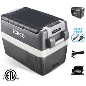 Portable 42qt Fridge Electric Cooler 12v Car Mini 0 F 50 F Refrigerator Open Box