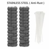 24 Pieces Lint Traps Stainless Steel Never Rust Washing Machine