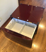 Kenmore Whirlpool 27 Washer Dryer Pedestal 1 W Drawer Red Burgundy 58829600