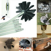 Dryer Vent Venting Duct Cleaning Lint Trap Removal Brush Vacuum Kit Drill