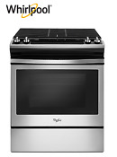 Whirlpool Front Control Gas Range In Black And Stainless Steel