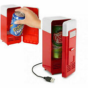 Mini Usb Fridge Cooler 5v Portable Plug Play 2speed 4ft Cable Small Drink Cooler