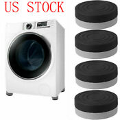 4pc Heavy Duty Washer Dryer Anti Vibration Non Slip Pads Raise Mats For Furnture