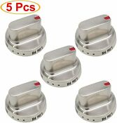 5x For Samsung Range Oven Gas Stove Dg64 00472a Dg64 00473a Stainless Steel Knob