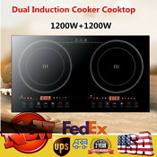 Multiple Cooking Electric Dual Induction Cooktop 2400w Countertop Double Burner