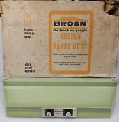 New Nos Mid Century Broan Oven Range Hood Duct Flow Fan Vent Avocado Green 72000