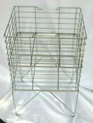 Vintage Chest Freezer Square Wire Stacking Storage Baskets W Stand 7 X 14 X 16