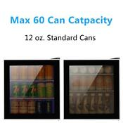 Zokop 60 Cans 1 6cu Ft Compact Beverage Cooler Mini Fridge Glass Door Restaurant