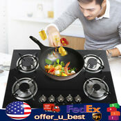 5 Burners Built In Natural Gas Lpg Cooktop Stove Kitchen Cooker Flame Cooking