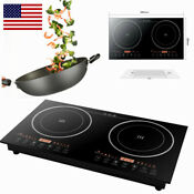 2 Burners Electric Cooktop Induction Cooker Stove 8 Gear Touch Control 1200w 2