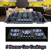 30in 5 Burners Built In Gas Cooktop Ng Lpg Convertible Stainless Steel Gas Stove
