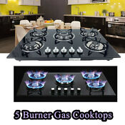30 Built In Gas Cooktop 5 Burner Ng Lpg Convertible Gas Propane Gas Stove Black