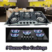 30 Built In 5 Burner Gas Cooktop Gas Hob Ng Lpg Convertible High Power Gas Stove