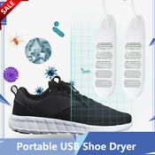 Portable Usb Shoe Dryer Louver Intelligent Timing Deodorization Boot Glove Cloth