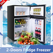 Powerful Household Refrigerator 2 Doors Fridge Freezer Dispenser Kitchen Fresh