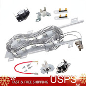 8544771 Dryer Heating Element Thermal Fuse Thermostat Kit For Maytag Kenmore