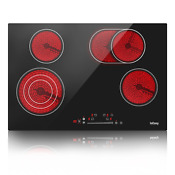 30 Drop In Electric Cooktop Ceramic Stove 4 Burner Touch Child Safety Timer Us