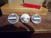 Wilcolator Gas Oven Control Knob Vintage Stove Parts Lot Of 3