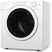 Costway Electric Portable Laundry Dryer 13lbs Capacity Tumble Dryer With 1500w