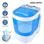 110v 260w Portable Washing Machine Laundry Washer 10lbs Capacity Wash Spin Cycle
