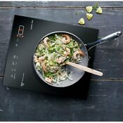 Portable 1400w Single Induction Cooktop With Control Panel