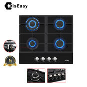24 Gas Cooktop Stove 4 Burners Built In Top Tempered Glass Lpg Ng Dual Fuel Us