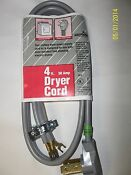 Dryer Cord 4 Ft 30 Amp 125 250v Electricord New 3 Wire