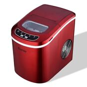 Mini Portable Compact Electric Ice Maker Machine Red