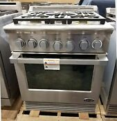 New Out Of Box Dcs 30 5 Burner Dual Fuel Range Stainless Steel Dual Fuel