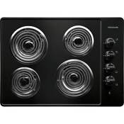 Frigidaire Ffec3005l Black 30 Electric Cooktop With Ready Select Controls