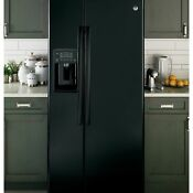 Ge Appliances Energy Star 23 2 Cu Ft Side By Side Black