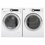 Ge Front Loading Washer And Electric Dryer Set In White