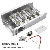 Dryer Heating Element Thermostat Kit 279838 3403585 For Whirlpool Kenmore Mayta
