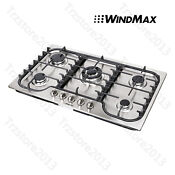 34 Natural Gas Sealed 5burner Built In Cooktop Stainless Steel