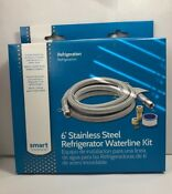 Smart Choice Stainless Steel Refrigerator Waterline Kit Required For Hook Up