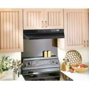 Broan F40000 Series 30 In Convertible Under Cabinet Range Hood With Light Black