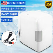 12v 4l Mini Refrigerator Fridge Portable Travel Auto Car Freezer Cooler Warmer