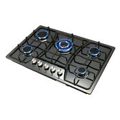 30 Stainless Steel Black Titanium 5 Burner Built In Stove Lpg Ng Gas Cooktop