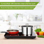 1800w Dual Induction Cooker Countertop Double Burner Cooktop Digital Touch Panel