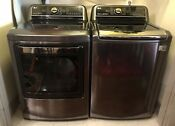 Lg Washer Dryer Black Stainless Steel Used Excellent Cond 2 Yrs Old Sold As Set