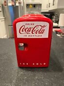 Coca Cola Mini Fridge Holds 6 12 Oz Cans Red All Parts Included Christmas