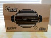 Nuwave Precision Induction Cast Iron Grill 31104 W Oil Drip Tray Nib