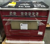 New Out Of Box Fisher Paykel Classic Series 36 All Gas Range In Red