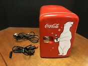 Coca Cola Retro Style 6 Can Mini Fridge Em4325